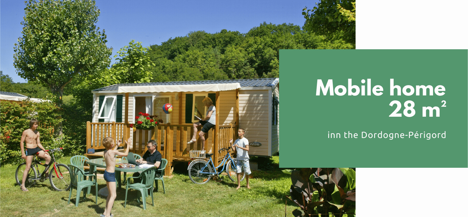 mobile home 2 bedrooms in a campsite in the dordogne perigord noir le pont de mazerat