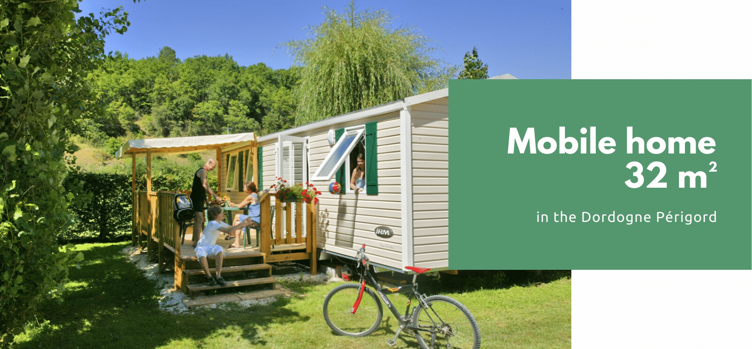 3 bedrooms mobile home in a campsite in the dordogne périgord le pont de mazerat